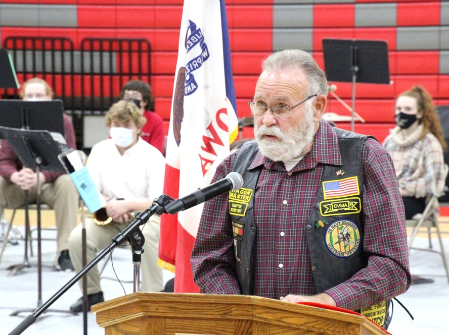 """By Willis Patenaude, Times-RegisterCentral Community School hosted a Veterans Day ceremony this past week, in what Superintendent Nick Trenkamp described as a day to """"honor and recognize those who served our country."""" The event featured multiple performances by the Central High School..."""