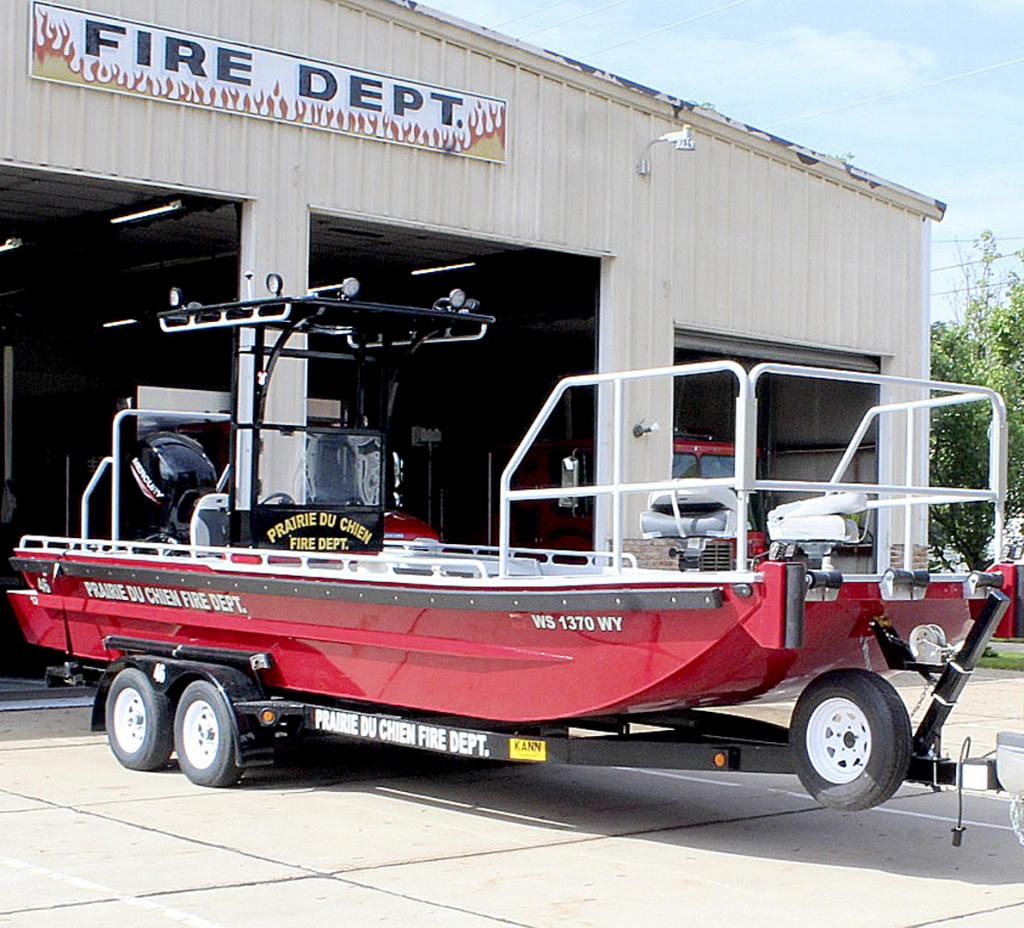 """By Correne MartinFor its first season on the river, the Prairie du Chien Fire Department's new fire and rescue boat has """"paid for itself already,"""" according to Chief Tad Beutin.Custom-made at Kann Manufacturing in Guttenberg, Iowa, the 22-foot vessel is stable,..."""
