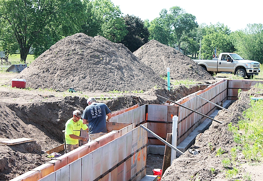"""By Ted PennekampConstruction is underway on the new Prairie du Chien Eagles Club building between S. First Street and the Highway 18 Bypass. In fact, forms were being set up Tuesday for the 7,200-square-foot, one story building.""""It (the new Eagles Club) has been going since we did..."""