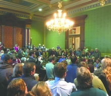 Hundreds showed up in Des Moines last week to share their opinions on a bill that would prevent state funds from being used for land acquisitions.